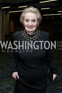 Sec. Madeleine Albright. Photo by Tony Powell. 2016 WHCD Pre-parties. Hilton Hotel. April 30, 2016