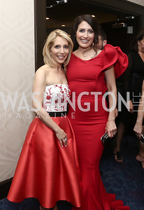 Dana Bash, Girlfriends Guide to Divorce's Lisa Edelstein. Photo by Tony Powell. 2016 WHCD Pre-parties. Hilton Hotel. April 30, 2016