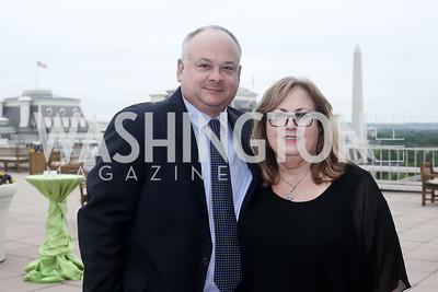 Bill and Sherry Moeller. Photo by Tony Powell. 2016 WHC Sunset Over the White House. April 29, 2016