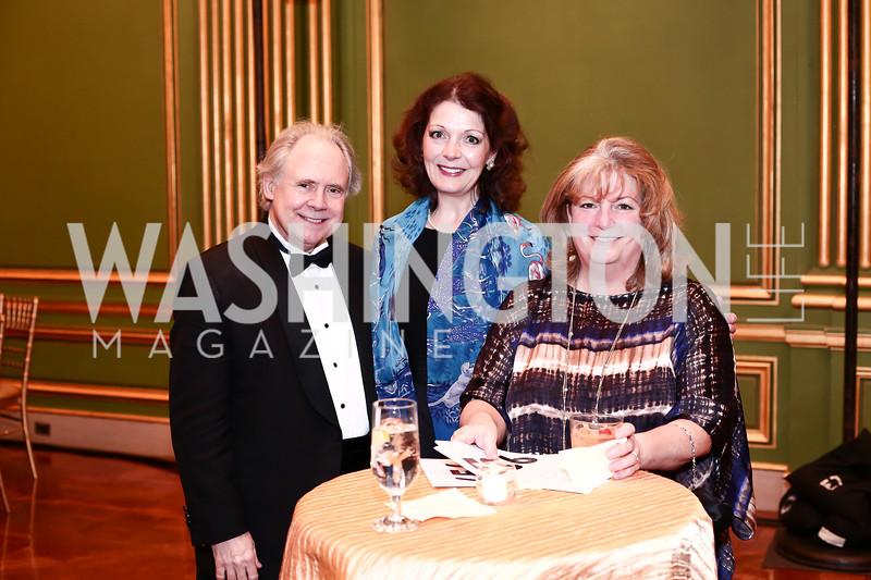 J. Reilly Lewis, Diana Dykstra, Beth Lewis. Photo by Tony Powell. 2016 WPA Gala. Mellon Auditorium. March 5, 2016