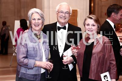 Marion and Michael Usher, Rima Calderon. Photo by Tony Powell. 2016 WPA Gala. Mellon Auditorium. March 5, 2016