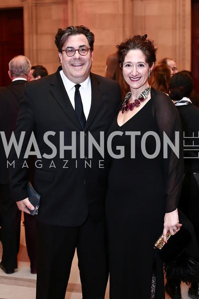 Alan Fleischmann and Dafna Tapiero. Photo by Tony Powell. 2016 WPA Gala. Mellon Auditorium. March 5, 2016