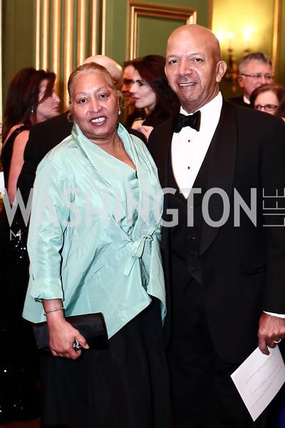 Diane Williams, Tony Williams. Photo by Tony Powell. 2016 WPA Gala. Mellon Auditorium. March 5, 2016