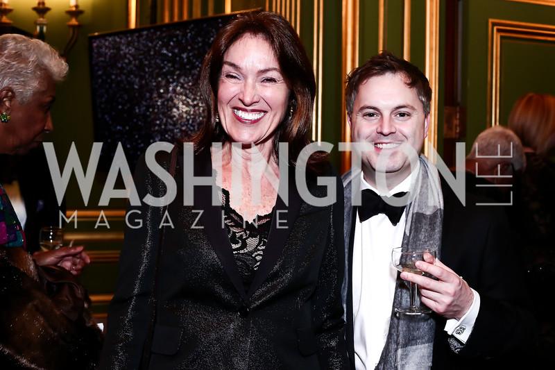 Debra Kraft, Ed Hoover. Photo by Tony Powell. 2016 WPA Gala. Mellon Auditorium. March 5, 2016