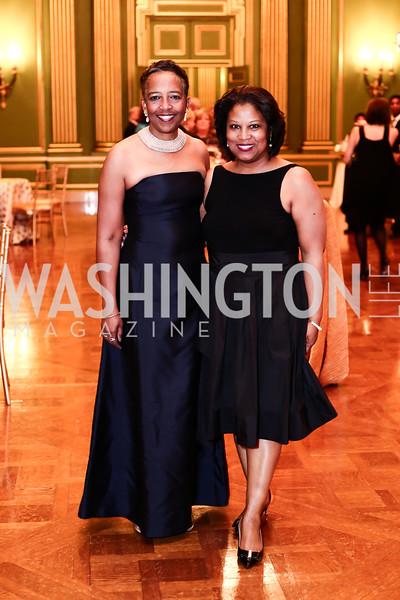 Terri Dean, Ouida Duncan. Photo by Tony Powell. 2016 WPA Gala. Mellon Auditorium. March 5, 2016