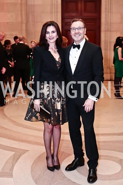Kosovo Amb. Vlora Citaku, Michael Olding. Photo by Tony Powell. 2016 WPA Gala. Mellon Auditorium. March 5, 2016