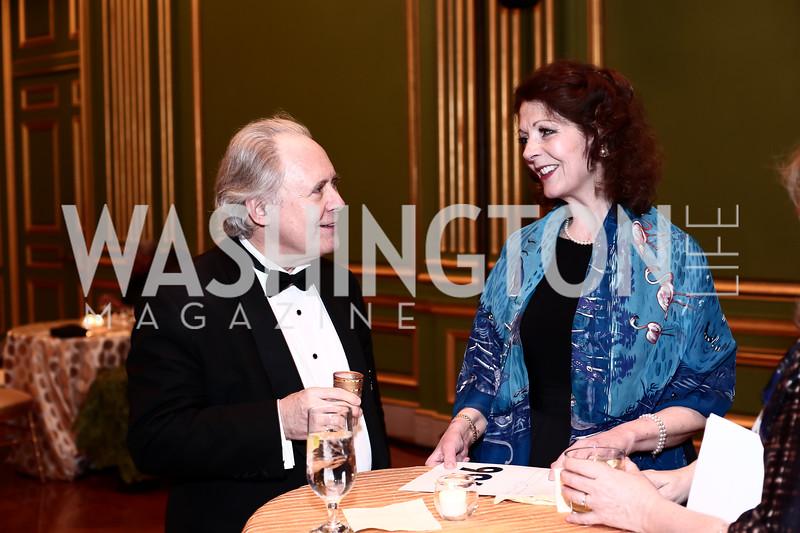 Maestro J. Reilly Lewis, Diana Dykstra. Photo by Tony Powell. 2016 WPA Gala. Mellon Auditorium. March 5, 2016