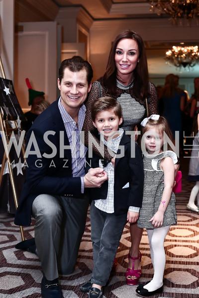 John, Enrico, Kristin, and Valentina Cecchi. Photo by Tony Powell. 2016 Wacky and Whimsical Tea to Benefit THEARC. Ritz Carlton. March 3, 2016