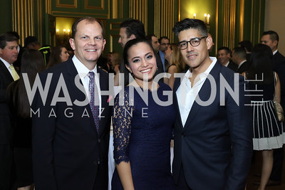 Greg Kinsella, Erandi Trevino, Luis Clavijo. Photo by Tony Powell. 2016 Walk This Way. Mellon Auditorium. December 9, 2016