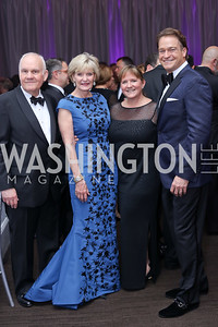 Andy and Barbara Taylor, Michelle Bosch, Brad Nierenberg. Photo by Tony Powell. 2016 JA Hall of Fame. Building Museum. November 30, 2016