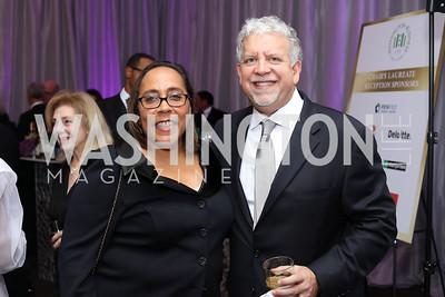 Patty Brooks Nobles, Matt Shank. Photo by Tony Powell. 2016 JA Hall of Fame. Building Museum. November 30, 2016