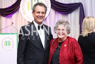 Tony Buzzelli, Bobbie Kilberg. Photo by Tony Powell. 2016 JA Hall of Fame. Building Museum. November 30, 2016