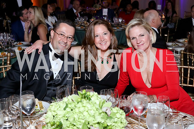 Derek Whitwer, Liz Sizer, Syzygy Founder Julie Shanklin. Photo by Tony Powell. 2016 JA Hall of Fame. Building Museum. November 30, 2016