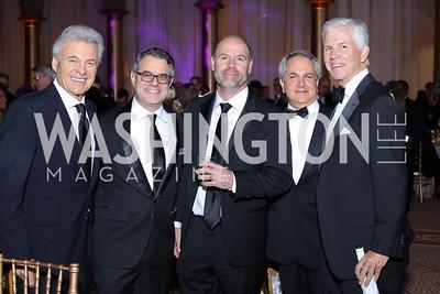 Stuart Bernstein, Jordan Goldstein, Francisco Gonzalez, Mark Dubin, Michael Farr. Photo by Tony Powell. 2016 JA Hall of Fame. Building Museum. November 30, 2016