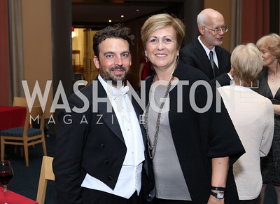 Maestro James Gaffigan, Deborah Rutter. Photo by Tony Powell. WNO Season Opener. Kennedy Center. September 24, 2016