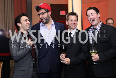 Singers Dominic Delzompo, Tim Bruno, Keith Jameson, and Rexford Tester. Photo by Tony Powell. WNO Season Opener. Kennedy Center. September 24, 2016