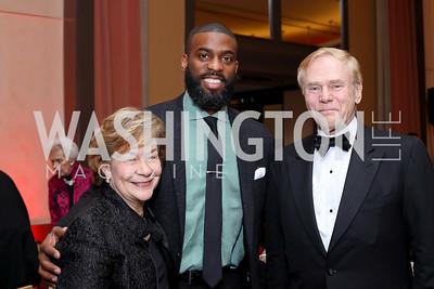 Elizabeth Lodal, Soloman Howard, Jan Lodal. Photo by Tony Powell. WNO Season Opener. Kennedy Center. September 24, 2016