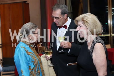 Justice Ruth Bader Ginsburg, David Reines, Nina Totenberg. Photo by Tony Powell. WNO Season Opener. Kennedy Center. September 24, 2016