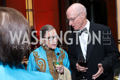 Justice Ruth Bader Ginsburg, Tom Susman. Photo by Tony Powell. WNO Season Opener. Kennedy Center. September 24, 2016