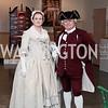 Martha and George Washington portrayed by Jane Pease and Dan McMahon. Photo by Tony Powell. 2016 Washington Winter Show Preview. Katzen Center. January 7, 2015