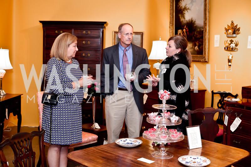 Polly Hahn, Brooke Allen, Melinda Smith. Photo by Tony Powell. 2016 Washington Winter Show Preview. Katzen Center. January 7, 2015