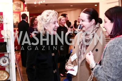 Joanne Swift, Monica Greenberg, Vicki Shannon. Photo by Tony Powell. 2016 Washington Winter Show Preview. Katzen Center. January 7, 2015
