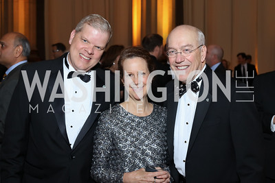 Tom and Susan Billington, Kurt Newman. Photo by Tony Powell. 2016 White Hat Gala. Building Museum. October 27, 2016