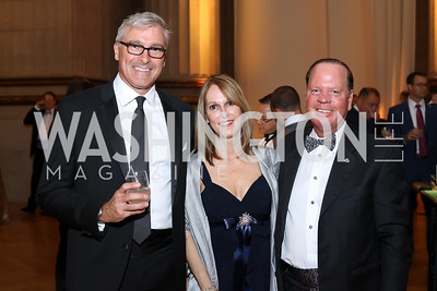 Mark Senell, Donna and Jeff Snyder. Photo by Tony Powell. 2016 White Hat Gala. Building Museum. October 27, 2016