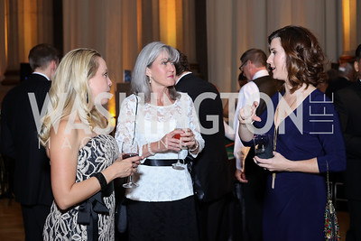 Emily Buday, Beth Parmer, Melanie Batenchuk. Photo by Tony Powell. 2016 White Hat Gala. Building Museum. October 27, 2016