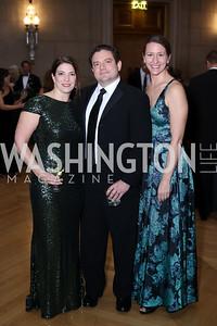 Brooke Daniels, Brett Lambo, Katie Randall. Photo by Tony Powell. 2016 White Hat Gala. Building Museum. October 27, 2016