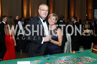 Rick and Sara Smith. Photo by Tony Powell. 2016 White Hat Gala. Building Museum. October 27, 2016