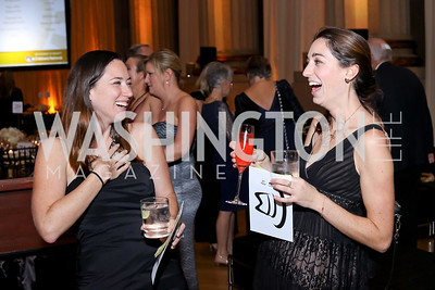 Sarah Abreu, Christine Shaughnessy. Photo by Tony Powell. 2016 White Hat Gala. Building Museum. October 27, 2016