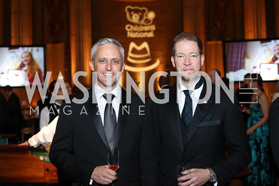 Gala Chairs David Trout and Paul Innella. Photo by Tony Powell. 2016 White Hat Gala. Building Museum. October 27, 2016