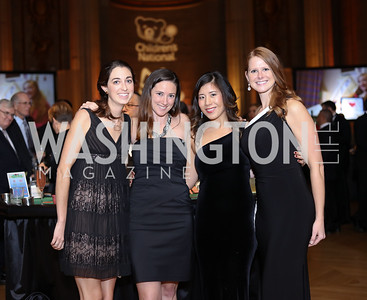 Christine Shaughnessy, Sarah Abreu, Jess Ching, Janessa Loftis. Photo by Tony Powell. 2016 White Hat Gala. Building Museum. October 27, 2016