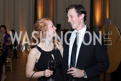 Carly Snyder, Nicholas Blue. Photo by Tony Powell. 2016 White Hat Gala. Building Museum. October 27, 2016