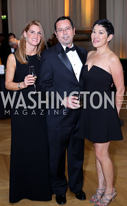 Amelia Trout, Werner and Denise Lippuner. Photo by Tony Powell. 2016 White Hat Gala. Building Museum. October 27, 2016