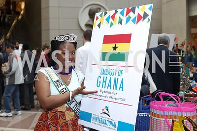 Miss Ghana Tourism Paulina Clark. Photo by Tony Powell. 2016 Winternational. Reagan Building. December 7, 2016