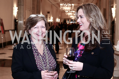 Cindy Sensibaugh, Claire Bishop. Photo by Tony Powell. 2016 Women Making History Awards. Mayflower Hotel. March 14, 2016