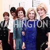 Former Sec. of Agriculture Ann Veneman, Aesha Ash, Christine Walevska, Rep. Carolyn Maloney, NWHM President Joan Wages. Photo by Tony Powell. 2016 Women Making History Awards. Mayflower Hotel. March 14, 2016