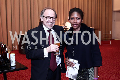 Richard Leiby and Michele Langevine Leiby. Photo by Tony Powell. 2016 Women Making History Awards. Mayflower Hotel. March 14, 2016