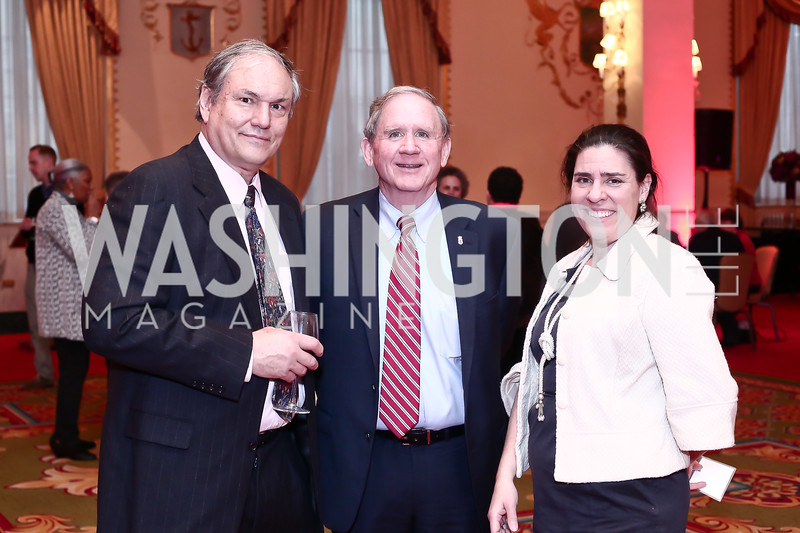 Edwin Grosvenor, James Connelly, Liz Maurer. Photo by Tony Powell. 2016 Women Making History Awards. Mayflower Hotel. March 14, 2016