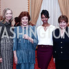 NWHM Board Chair Susan Whiting with 2016 Honorees Christine Walevska, Aesha Ash, and Former Sec. of Agriculture Ann Veneman. Photo by Tony Powell. 2016 Women Making History Awards. Mayflower Hotel. March 14, 2016