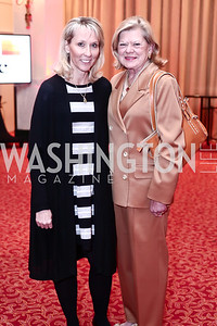 Jennifer Bogart, Linda Jenckes. Photo by Tony Powell. 2016 Women Making History Awards. Mayflower Hotel. March 14, 2016