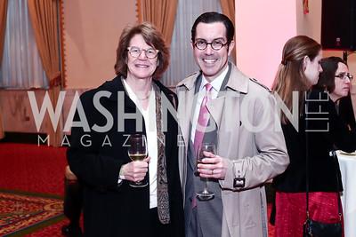 UDC Law Dean Shelley Broderick, Jon Bouker. Photo by Tony Powell. 2016 Women Making History Awards. Mayflower Hotel. March 14, 2016