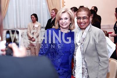 Rep. Carolyn Maloney, Rep. Eleanor Holmes Norton. Photo by Tony Powell. 2016 Women Making History Awards. Mayflower Hotel. March 14, 2016