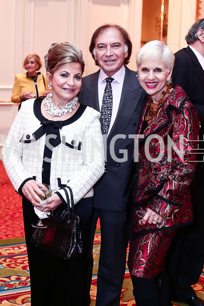Annie Totah, Leo Sahakian, Jan Du Plain. Photo by Tony Powell. 2016 Women Making History Awards. Mayflower Hotel. March 14, 2016