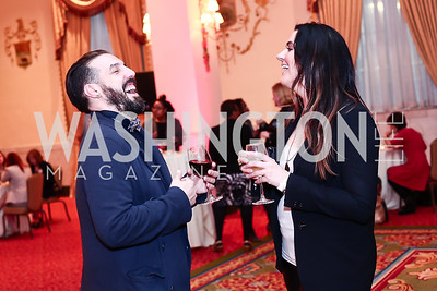 Luis Bujia, Marissa Mirra. Photo by Tony Powell. 2016 Women Making History Awards. Mayflower Hotel. March 14, 2016