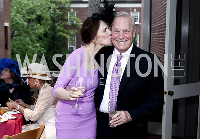 Candy Gerstein, Robert Heggestad. Photo by Tony Powell. Woodrow Wilson House 28th Annual Garden Party. May 11, 2016
