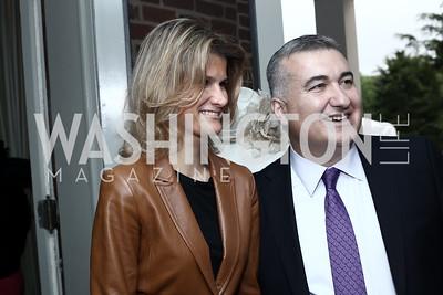 Lala Abdurahimova and Azerbaijan Amb. Elin Suleymanov. Photo by Tony Powell. Woodrow Wilson House 28th Annual Garden Party. May 11, 2016