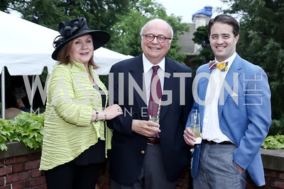 Elisabeth Dupuy, Ed Gerber, Bill Hatfield. Photo by Tony Powell. Woodrow Wilson House 28th Annual Garden Party. May 11, 2016